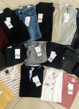 Zara мужские брюки, футболки, поло, джинсы, спортивные штаны