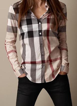 Люкс,брендовая рубашка в клетку от burberry,оригинал
