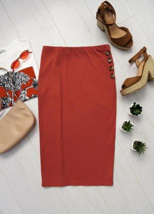 Трикотажная юбка в рубчик