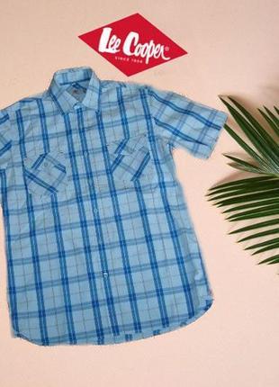 🍀🍀lee cooper оригинал летняя мужская рубашка короткий рукав м🍀🍀🍀1 фото