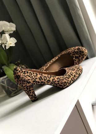 Новые туфли на каблуке в тигровый принт туфлі жіночі graceland 40