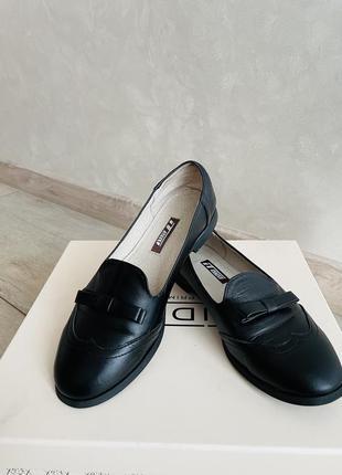 Детские кожаные туфли 🥿 лоферы
