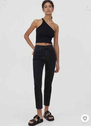 Чорні джинси mom від pull&bear, розмір 36 як zara