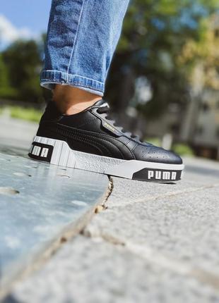 Женские кожаные кроссовки puma cali    #пума