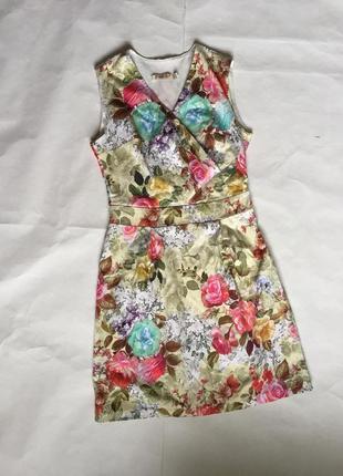 Платье на запах в принт