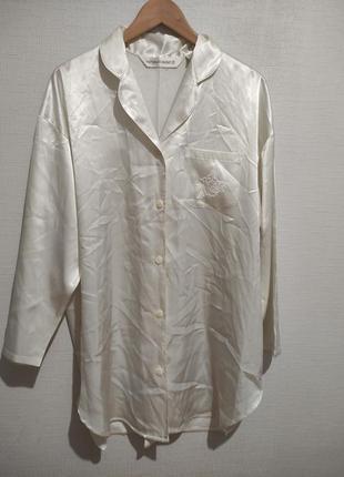 Сатиновая рубашка-халат ночнушка пижама