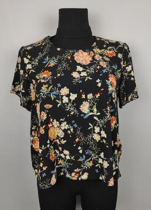 Блуза красивая цветочная с чекером uk 10/38/s