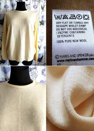 Новый нежный свитер пастельно лимонного цвета из 💯 шерсти меринос