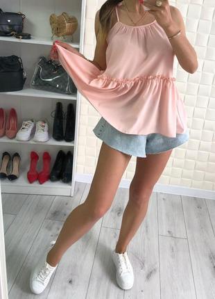 Женская летняя блуза волан