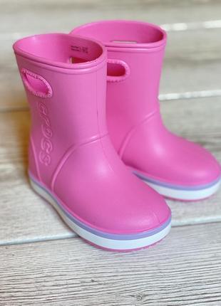 Crocs резиновые сапоги c7, c8, c9, c11, c12, c13, j1, j2, j3 , крокс сапожки , гумові чобітки крокс