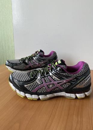 Спортивные кроссовки asics, оригинал, размер 40, беговые, фирменные, летние, сетка, легкие, яркие, цветные, легкие, гель