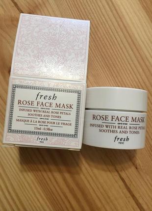 Fresh rose face mask увлажняющая маска с розой 15 мл