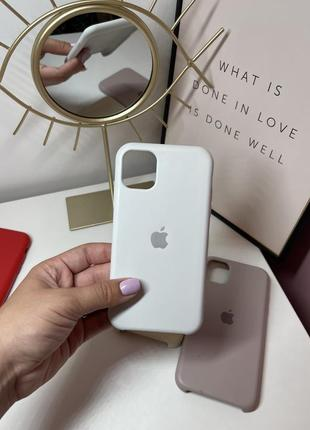 Чехол белый білий чохол кейс на айфон 11 iphone 11 силиконовый