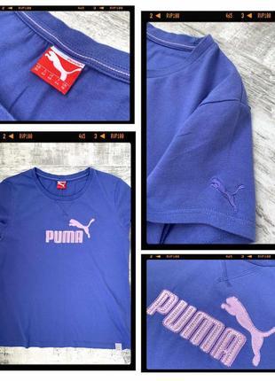 Хлопковая футболка puma 100% хлопок