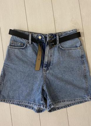 Джинсовые шорты шортики с ремнем