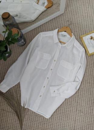 Тренд лета!!! белая льняная рубашка next