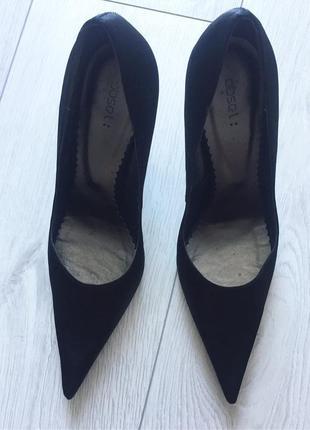 Черные туфли, чорні туфлі на шпильці, туфли лодочки, лодочки .