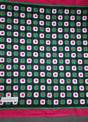 Яркий винтажный  платок yves saint laurent