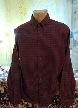 Рубашка фланелевая рубашка приталенная