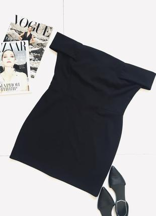 Стильное черное платье по плечам от new look   1+1=3 на всё 🎁