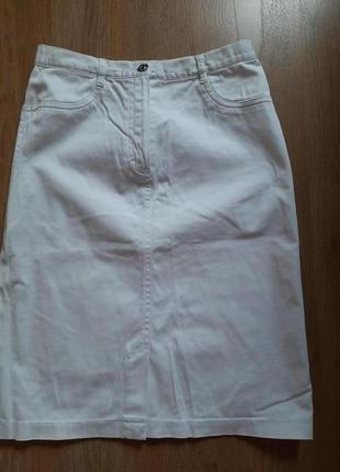 Белая коттоновая юбка 42р