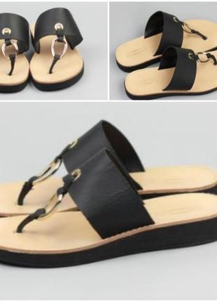 Кожаные шлепанцы,сандали
