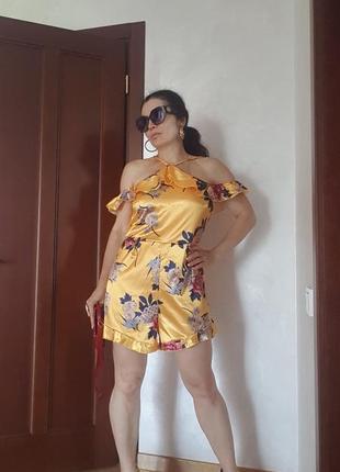 Сарафан комбинезон шорты ромпер платье мини