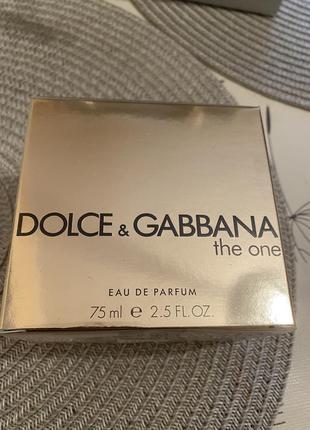 Духи dolce&gabbana the one 75 ml