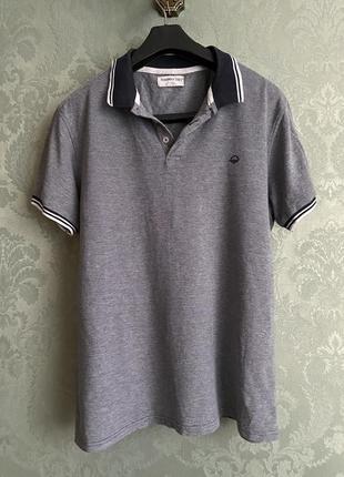 Мужская летняя футболка поло синяя xl