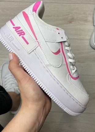 Nike air force shadow pink кроссовки найк женские аир форс кеды обувь взуття