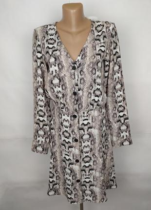 Платье новое стильное питоновой расцветки h&m uk 10/38/s