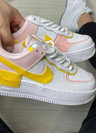 Nike air force shadow yellow кроссовки найк женские форсы аир форс кеды обувь взуття