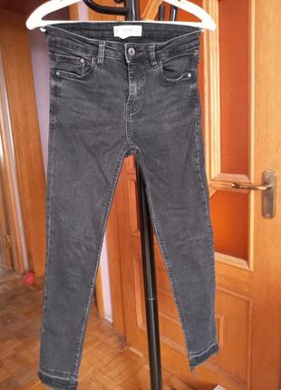 Тёмно-серые джинсы mango