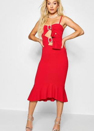 🔥ликвидация❤️шикарное вечернее платье русалка, рыбка, миди boohoo, коллекция paris hilton