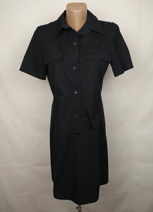Платье оригинальное в рубашечном стиле стрейчевое max mara uk 8/36/xs