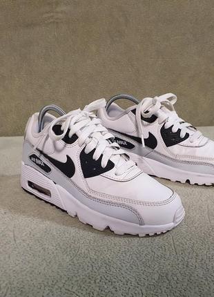 Кожаные кроссовки nike air max,оригинал