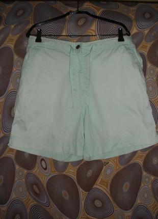 Летние  шорты мятного цвета bm высокая талия посадка кулиса