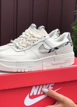 Nike air pixel🆕женские повседневные кожаные кроссовки найк пиксель🆕белые с серым