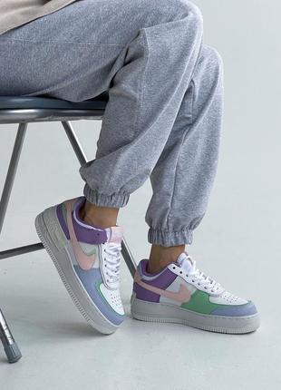 💜 женские кроссовки nike air force 1 shadow