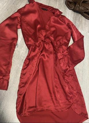 Красное платье коктейльное ( очень легкое)