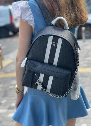 Рюкзак michael kors slater medium logo stripe backpack оригинал