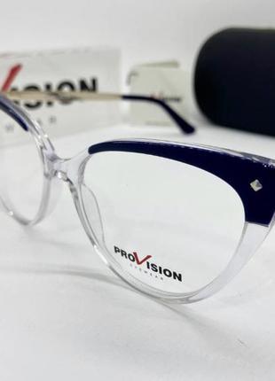 Женская оправа очки прозрачная с металлическими дужками4 фото