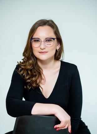 Женская оправа очки прозрачная с металлическими дужками2 фото