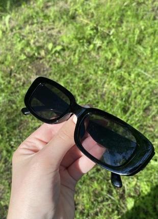 Очки окуляри сонцезахисні солнцезащитные прямоугольные квадратные черные