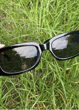 Очки окуляри сонцезахисні солнцезащитные прямоугольные квадратные черные2 фото