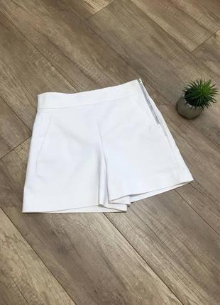Белые шорты высокая посадка завышенная талия xs/s 42/44 zara