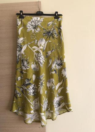 Женственная юбка zara красивый принт