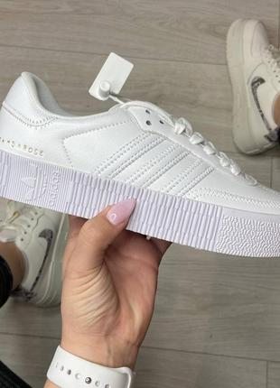 Adidas samba white кроссовки адидас самба обувь взуття кеды