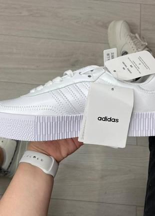 Adidas samba white кроссовки адидас самба обувь взуття кеды3 фото