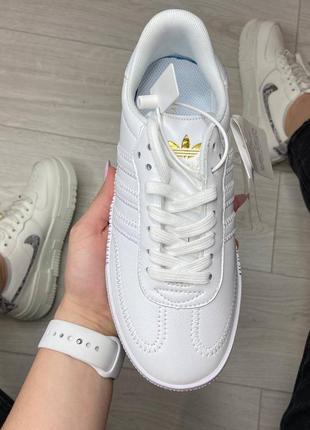 Adidas samba white кроссовки адидас самба обувь взуття кеды2 фото